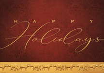 Golden Greetings Holiday Cards